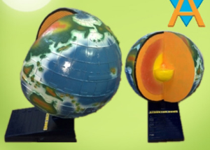 Peraga Struktur Bumi 3 Dimensi Braille